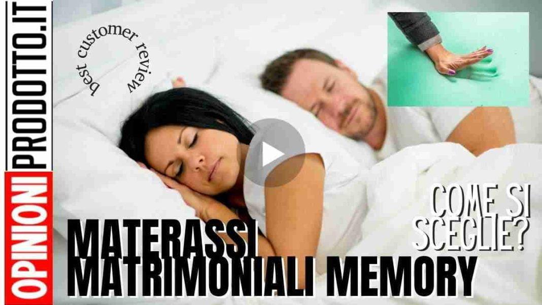 migliori materassi matrimoniali memory come scegliere