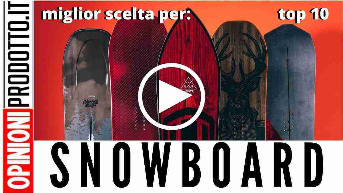 Miglior Snowboard: guida acquisto prezzi e recensioni